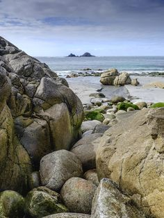 """Porth Nanven, Cornwall, England by Matt Lethbridge """