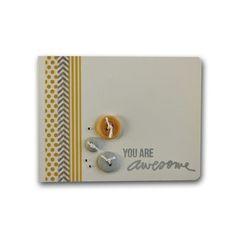 Washi Tape Stamped Card