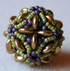 another beaded bead - not in English but good pictures.