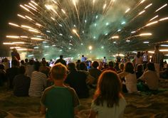 Spectators enjoying a water shell #fireworks