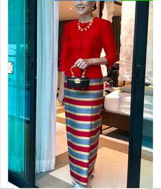 Women's Dresses, Dresses For Work, Thai Dress, Filipina, Kebaya, Asian Fashion, Silk Dress, Sew, Satin