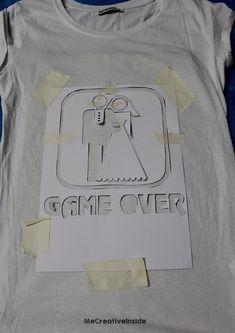 diy tutorial Maglia Sposa 'Game Over' fai da te per addio al nubilato PASSO 2