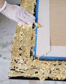 Aplicação de folha de ouro