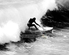 Silver Surfer - Surfing Life in Black and White - 8X10 B/W Fine Art Surfing Photo, surfing photography, wall art, beach decor, B&W Photo