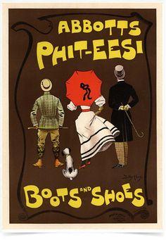 Poster The Belle Epoque Boots and Shoes impresso com tecnologia HighHD de alta definição em papel semi-glossy especial com gramatura 250g no tamanho A3 (42x29cm) com cores vibrantes.