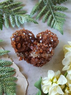 Aragonite Cluster  Natural Heart Shaped Aragonite by bionicunicorn