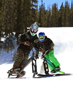 He thought it was the coolest and craziest thing he'd ever seen on snow. He asked the standard questions: Where are the brakes? Snowboarding, Skiing, Future Transportation, Bed Furniture, Winter Sports, Sled, Sofa Bed, Mountain Biking, Motorcycle Jacket
