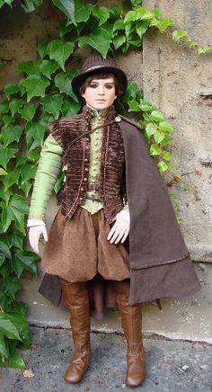 Roger - Elizabethan gentleman costume for 80cm high doll (mold by Rose Pinkul)