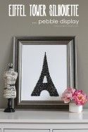 Springtime in Paris Michaels Makers DIY Eiffel Tower Silhouette -- Pebble Display (a little touch of Paris in your home!) | via Make It and Love It
