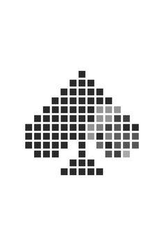 Signet pixeliges Pik - von PiKSEL Company Logo, Design