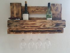 Weinregal aus Paletten, vintage, Regal, Wood wine rack