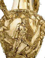 Thracian treasury. Gold ewer 2000 years old.