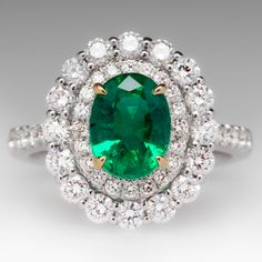 Emerald Gemstones Colombian Emerald Diamond Gold Ring Imperial Topaz Diamond Ring 20 Most Loved Cushion Cut Engagement Rings I Love Jewelry, Jewelry Rings, Fine Jewelry, Jewelry Design, Jewlery, Emerald Jewelry, Diamond Jewelry, Emerald Rings, Royal Jewelry