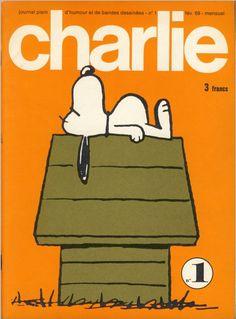 Charlie Mensuel - # 1 - Février 1969 - Couverture de Schulz