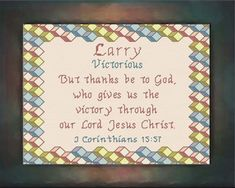 Larry - Name Blessings Personalized Cross Stitch Design from Joyful Expressions Names With Meaning, Cross Stitch Designs, Kid Names, Joyful, Gifts For Family, Cross Stitching, Linen Fabric, Custom Framing, Larry