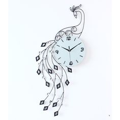 New Modern designer Large Crystal Peacock Wall Clock.Fashion for home living room decoration. There are many other styles in our company. If you like it pls contact us by e-mail: CJQ057989911607@outlook.com