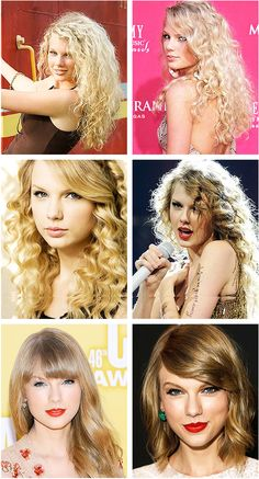 Taylor's hair evolution