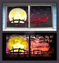 Kitty Moon Window by thedustyphoenix