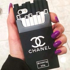 Chanel cigarette iPhone case This is from that website I put in your iPad.