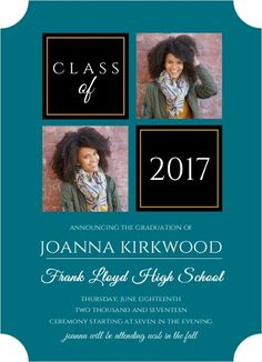 Organized Color Photo Grid Graduation Announcement from PurpleTrail  #GraduationAnnouncements #PhotoGraduationAnnouncements #CustomGraduationAnnouncements #Graduation2017 #ClassOf2017