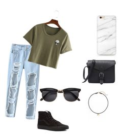 """"""":)"""" by jennasurprenal on Polyvore featuring Chicnova Fashion, Vans and Dogeared"""