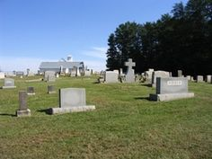 White Plains Baptist Cemetery  White Plains  Surry County  North Carolina  USA