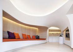 Penda creates snowdrift-inspired interiors for a Chinese ski retreat.