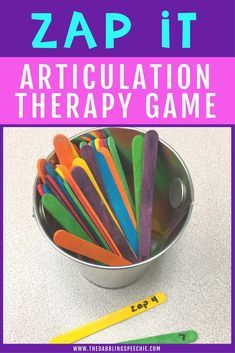 An easy DIY game for speech therapy that will get high repetitions for articulation practice.