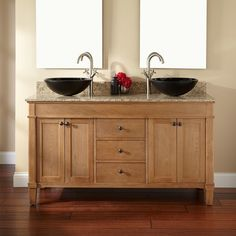 "60""+Marilla+Double+Vessel+Sink+Vanity.     Signature Hardware"