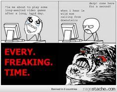 I swear it happens every time