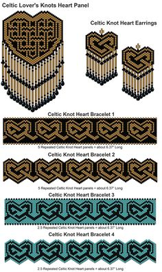 Celtic Knot Heart Collection | Bead-Patterns.com
