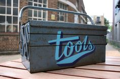 Great tool box embellished by Ornamental Conifer, sign painter