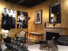 Art from Cavalier Gallery: Alex Guefeng Cao's Elvis Presley and Catherine Deneuve; and @ValerioArtDeco's Juan Manuel Sanchez in #GlamLounge Designer Showcase #PalmBeachShow #art