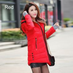 Parkas Winter Coats Women Thickening Hooded Winter Jacket Slim Fit Long Down Cotton Coat Outdoor Parka Plus Size High Quality