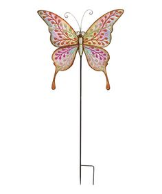 Love this Metal Butterfly Garden Stake on #zulily! #zulilyfinds