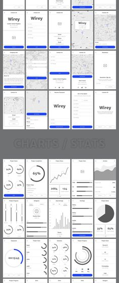 Wirey Mobile Wireframe Kit is made with fast workflow in mind, so we created 200+ ready to use screens, built in Photoshop and Sketch file formats. You can create wireframes for mobile projects of any complexity and show them to your team or clients in minutes. Super simple to use to boost your creativity and productivity. If you want, you can include images to create high fidelity prototypes.