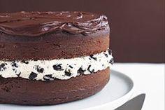 Pastel de galletas de chocolate cubierto de chocolate