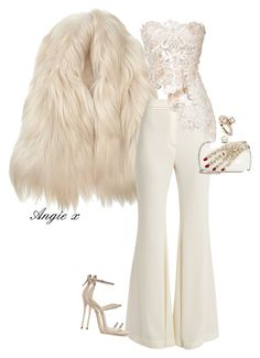 A fashion look from August 2017 featuring white lace top, wool vest and high-waisted wide leg pants. Browse and shop related looks. Sexy Outfits, Lila Outfits, Kpop Outfits, Latest Outfits, Classy Outfits, Chic Outfits, Beautiful Outfits, Polyvore Outfits, Polyvore Fashion