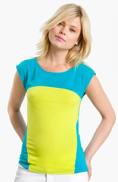 Trouvé Colorblock Cap Sleeve Tee | Nordstrom