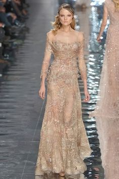 pink-gold-formal-gown - Once Wed