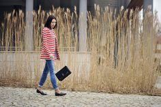 marynarka-w-paski #street #fashion #street #style #boyfriend #jeans #moccasins #striped #blazer #striped #jacket