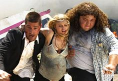 Photo from LOST  Season 1, Episode 1.  Jack, Claire & Hurley