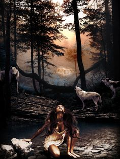 Woman of Wolves by ChrisDesign47.deviantart.com on @deviantART
