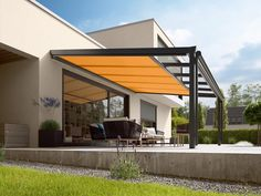 There are lots of pergola designs for you to choose from. First of all you have to decide where you are going to have your pergola and how much shade you want. Pergola Canopy, Pergola With Roof, Patio Roof, Backyard Patio, Patio Awnings, Garden Canopy, Modern Pergola, Outdoor Pergola, Diy Pergola