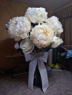 Большие цветы| Мастер Букета |Декор |Обучение Paper Flowers Craft, Large Paper Flowers, Paper Flowers Wedding, Giant Paper Flowers, Large Flowers, Flower Crafts, Paper Crafts, Flower Collage, Handmade Flowers