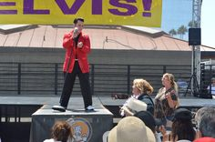 Joe Banuelos making the ladies swoon at the 16th Elvis Festival at the OC Market Place