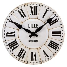 Buy Newgate Lille Wall Clock, Dia.50cm, White Online at johnlewis.com