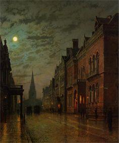 John Atkinson Grimshaw, Park Row, Leeds, 1879