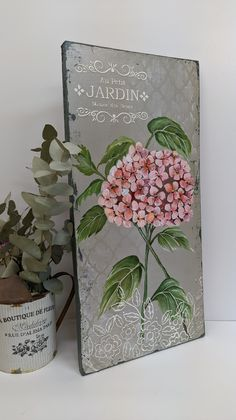 Mix Media, Ideas Para, Beautiful Flowers, Decoupage, Shabby, Spring, Projects, Pictures, Painting