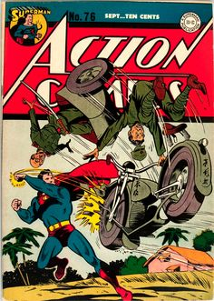 More Superman Picking on Axis Troops. - Superdickery - Be sure to catch Avengers The Unsnappening Marvel Dc Comics, Superman Action Comics, Dc Comics Art, Dc Comic Books, Vintage Comic Books, Comic Book Covers, Vintage Comics, Superman Comic, Batman And Superman